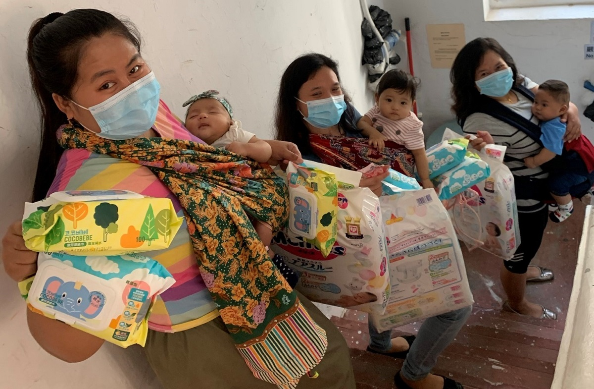 Mothers need diapers in different sizes and baby milk formula for different stages