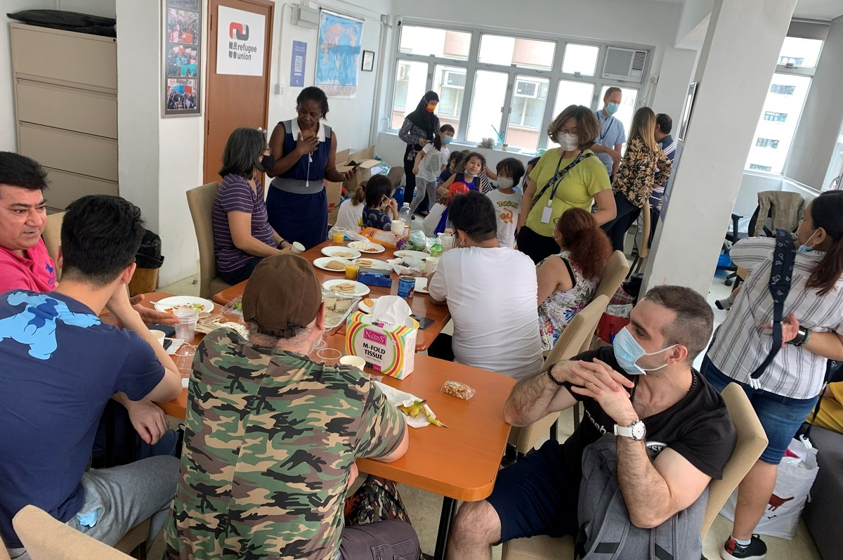 Dozens of refugees visit our centre daily and require transportation money